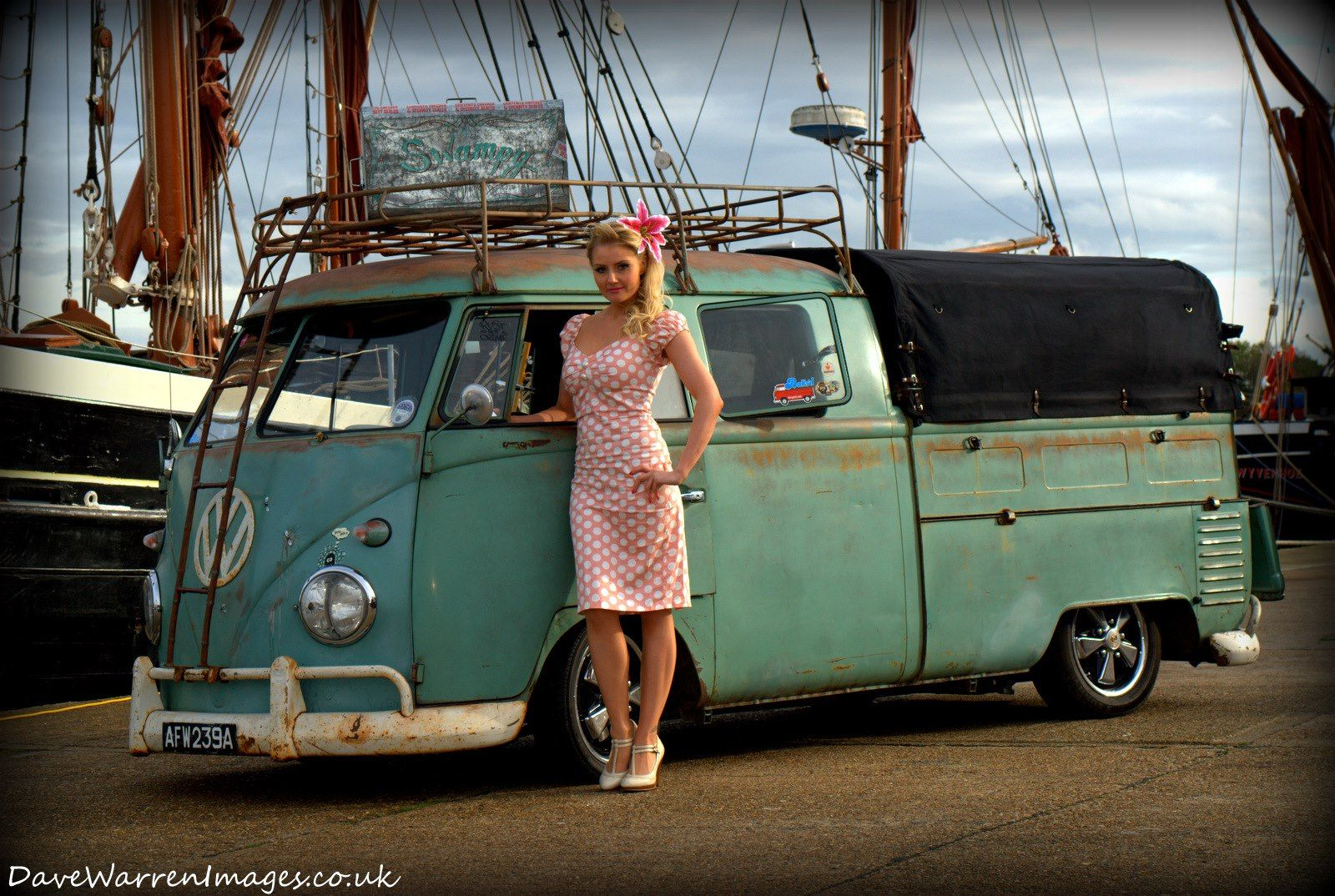 Amazing Vw bus # Beautiful Pin-up. ♤ # van # classic # old school ♤. X Bros Apparel Vintage Motor T-shirts, VW Beetle & Bus T-shirts, Great price