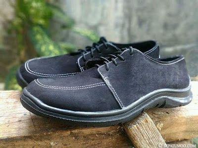 Sepatumoo Sepatu Kulit Casual Pria Icardi Warna Hitam Sepatu