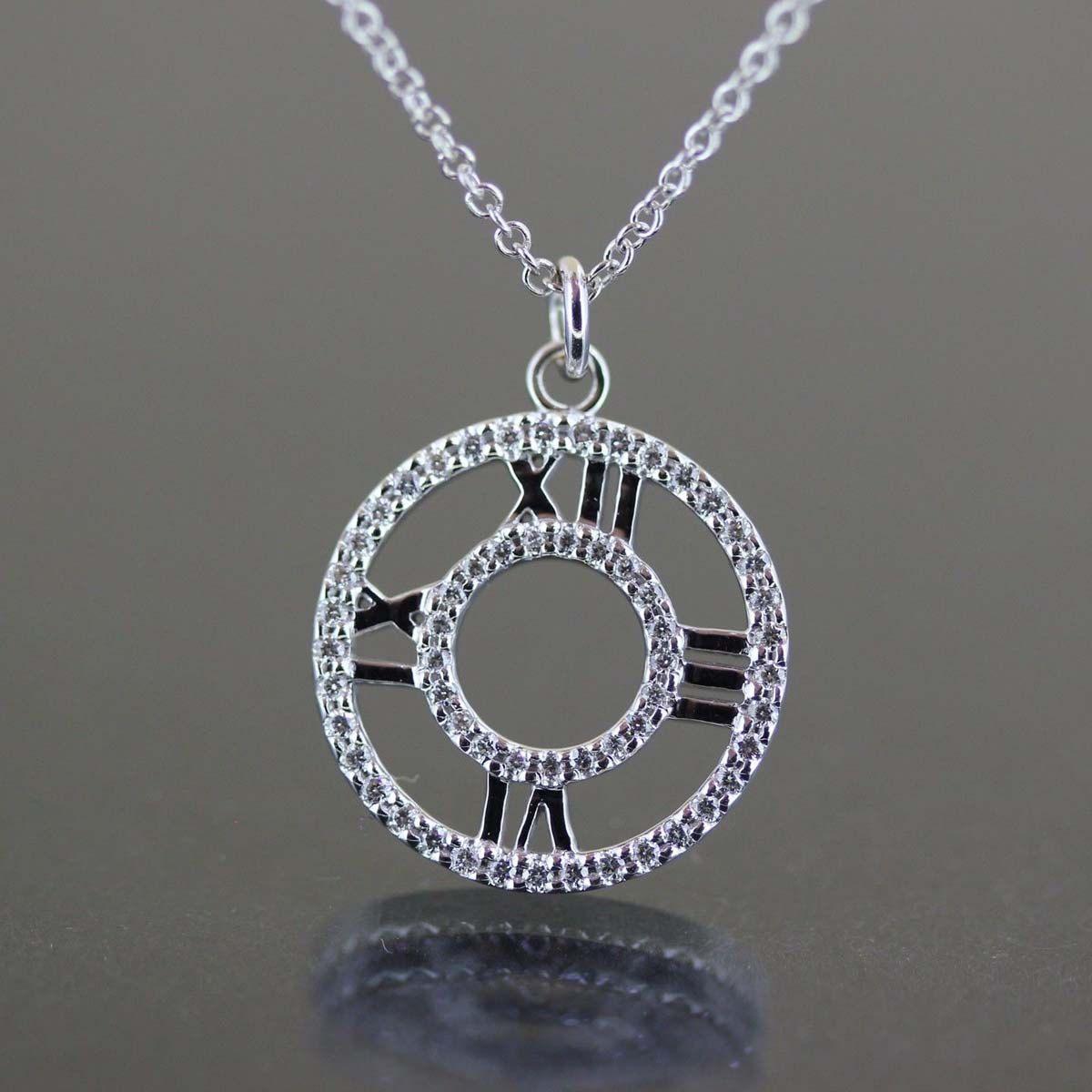 327b5e2cb Authentic Tiffany & Co Designer 18k White Gold Atlas Diamond Necklace by  crystalanchor on Etsy