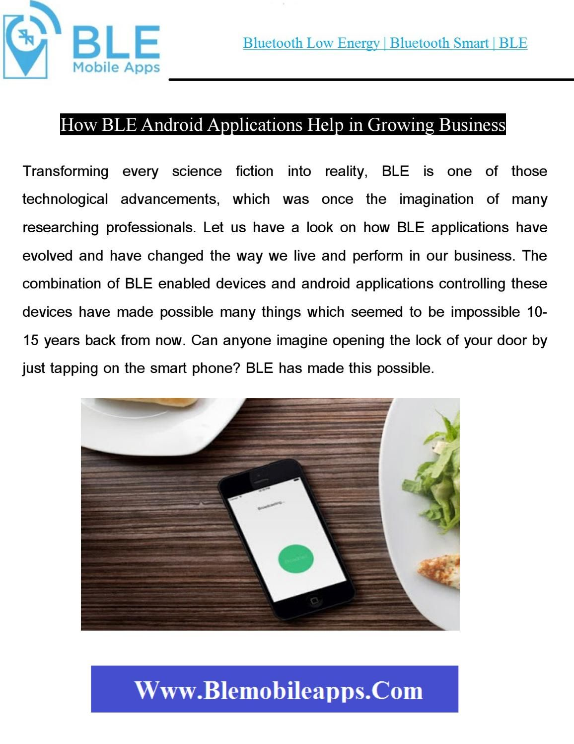 How ble android applications help in growing business in