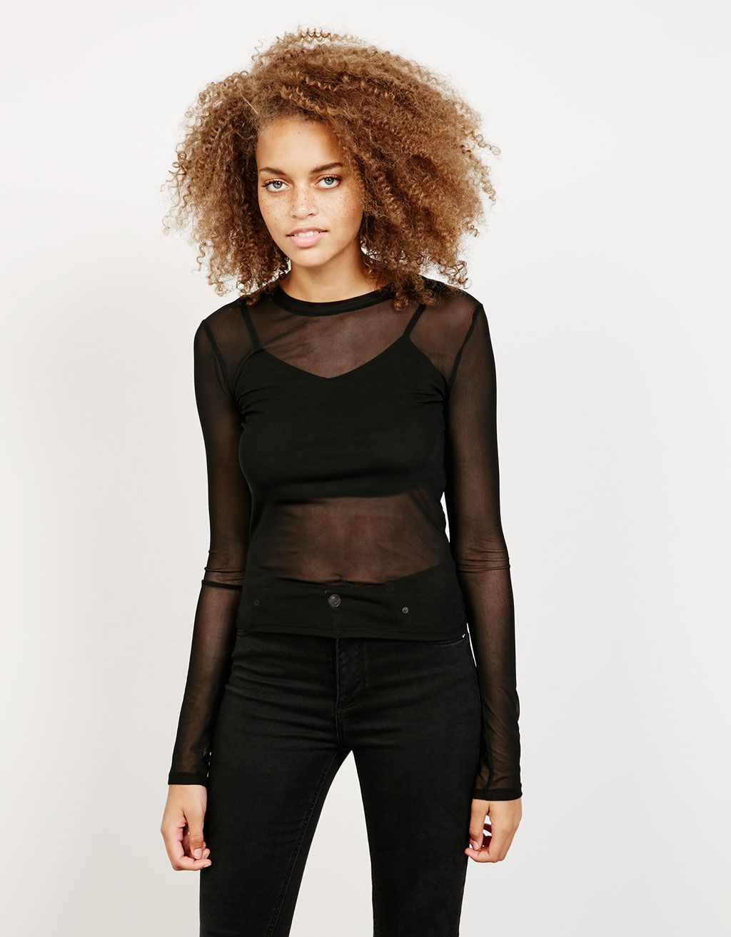 c9d3d0ef2e Tulle top with lining. Discover this and many more items in Bershka with  new products every week