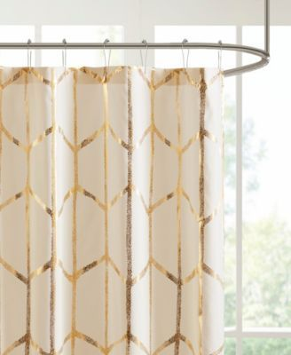Madison Park Intelligent Design Zoey 72 X 72 Metallic Shower