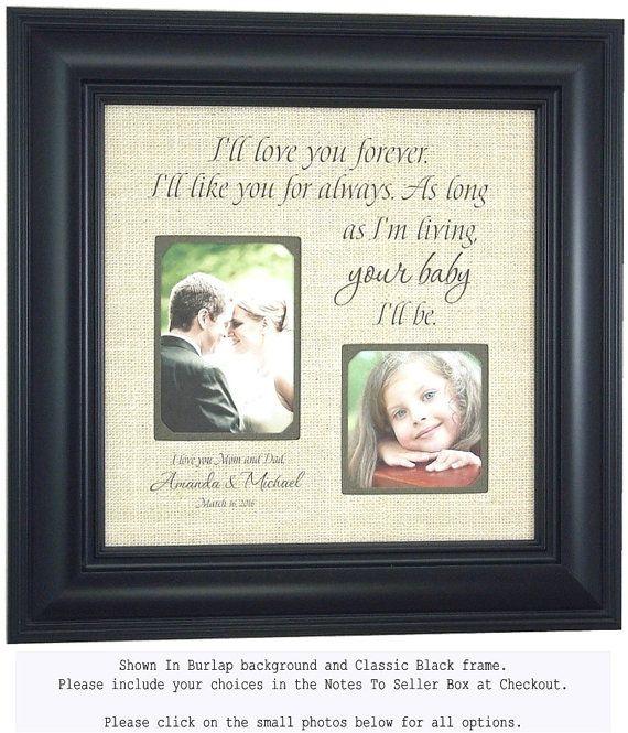 Personalized Wedding Frames Parents Wedding Gift I\'ll | Wedding Gift ...