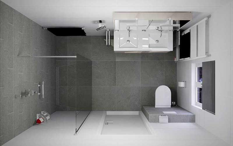 Aanbieding, complete badkamer met inloopdouche, dubbel ...