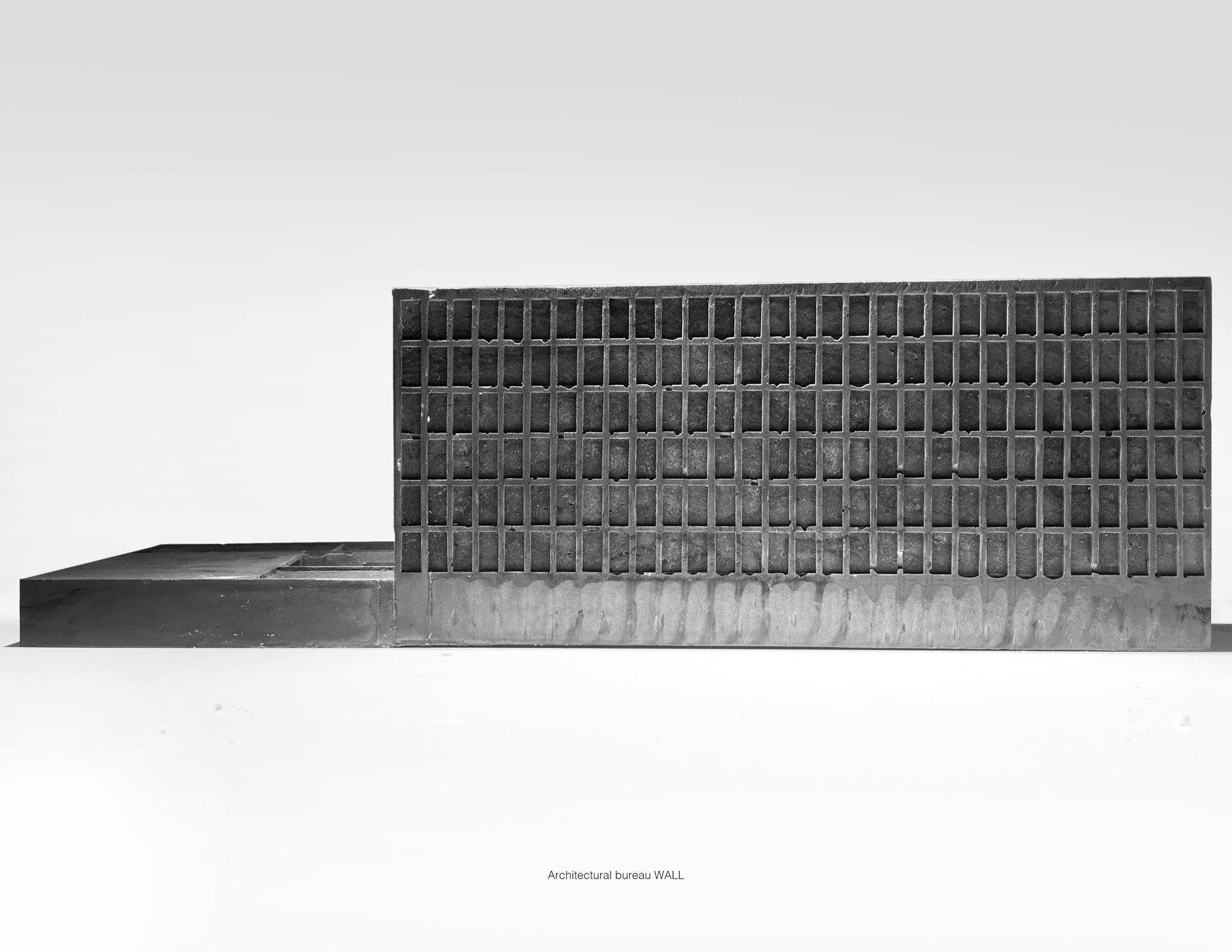 Architecture bureau wall apartments model gypsum black pigment