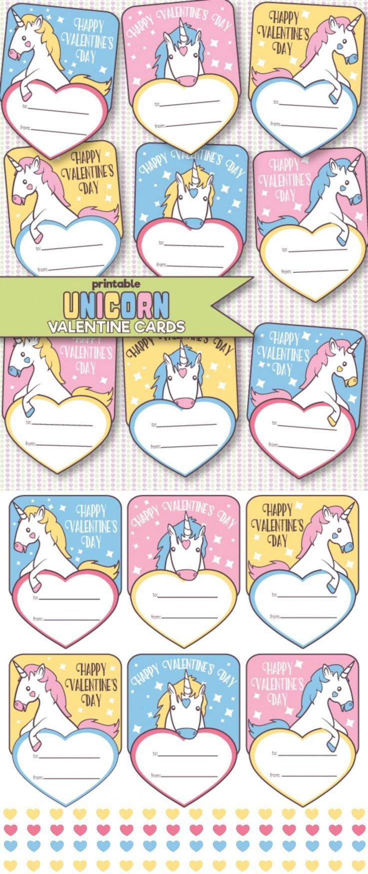 It's just a picture of Resource Free Printable Unicorn Valentines