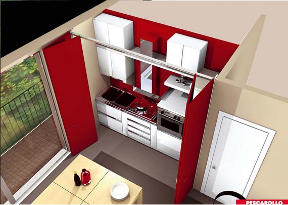 Pin by lur esc on hidden kitchen cocina oculta cocinas - Cocinas ocultas ...