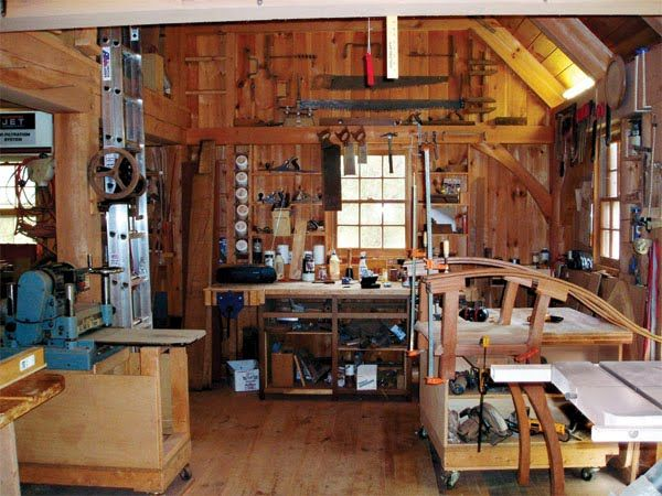 Shed Interior Woodworking Shop Layout Wood Shop