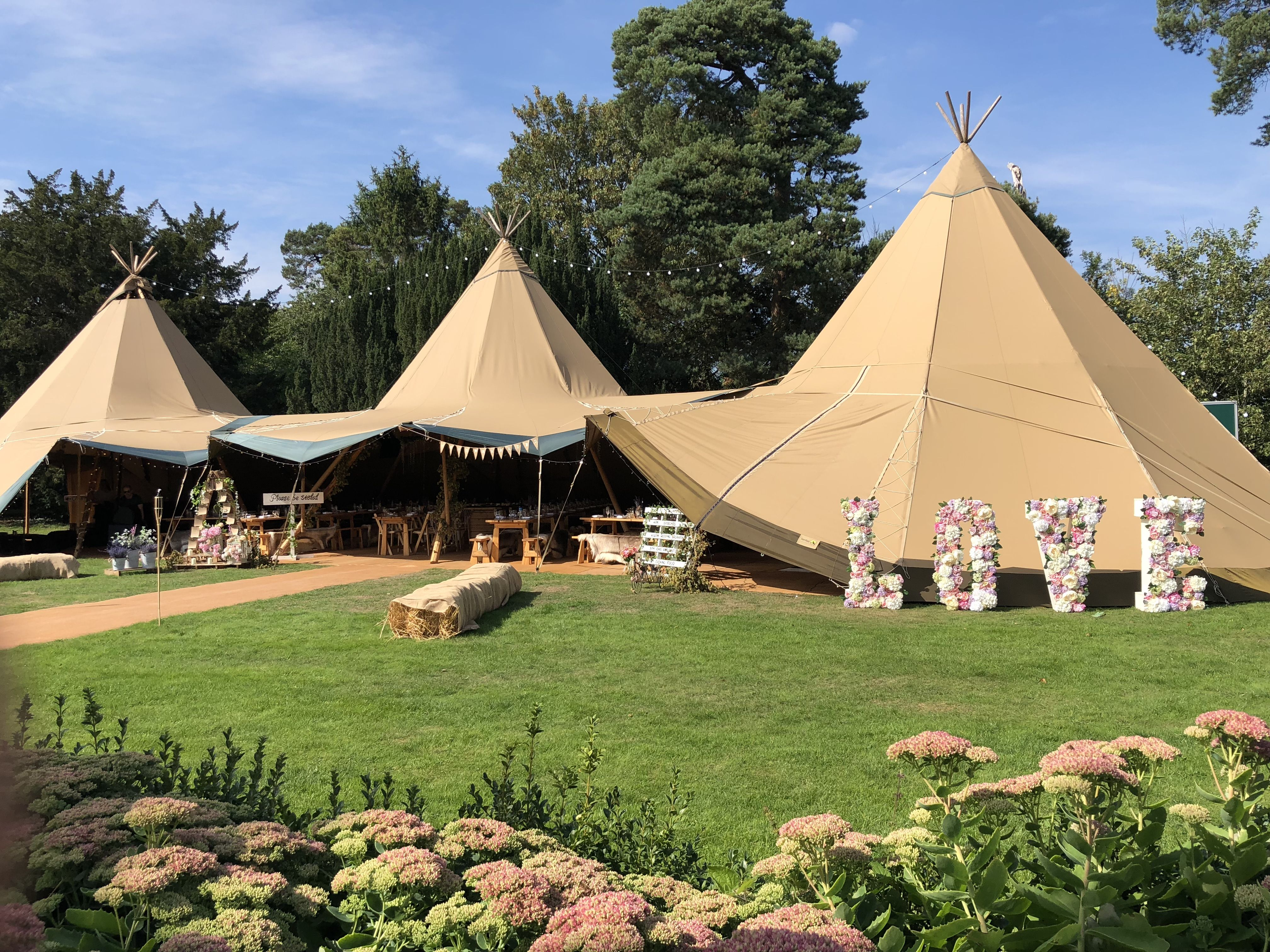 Elite Tents tipis at Oldberrow House (With images) | Tent ...