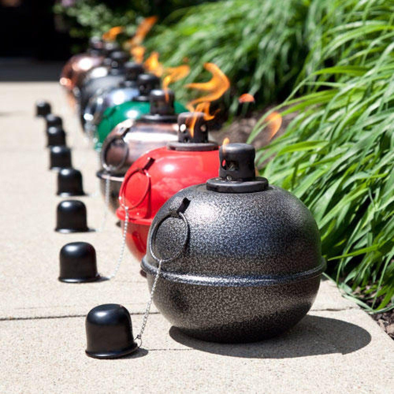 8 Quot Large Metal Patio Smudge Pot Outdoor Indoor Patio