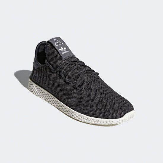 uk availability 46e1b f8c1b adidas Originals Unisex Pharrell Williams Tennis HU Shoes Racket Black  AQ1056 adidas