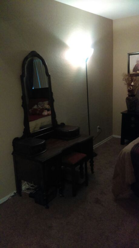 Used (normal wear) - Antique VAnity mirror and chair