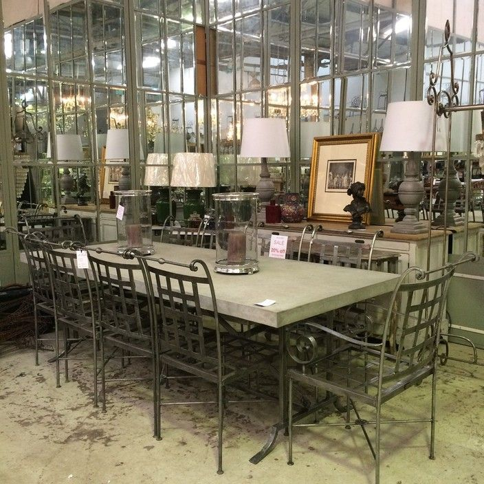 Stunning Outdoor Table and Chair setting. Hand forged ...