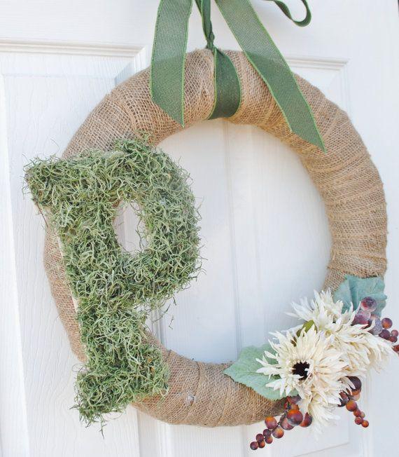 Monogram Wreath Personalized Door Wreath