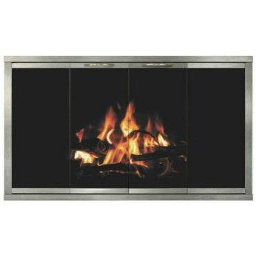the boardwalk for majestic fireplaces 14 gauge steel frame rh pinterest com Black Fireplace Doors Solid Fireplace Doors