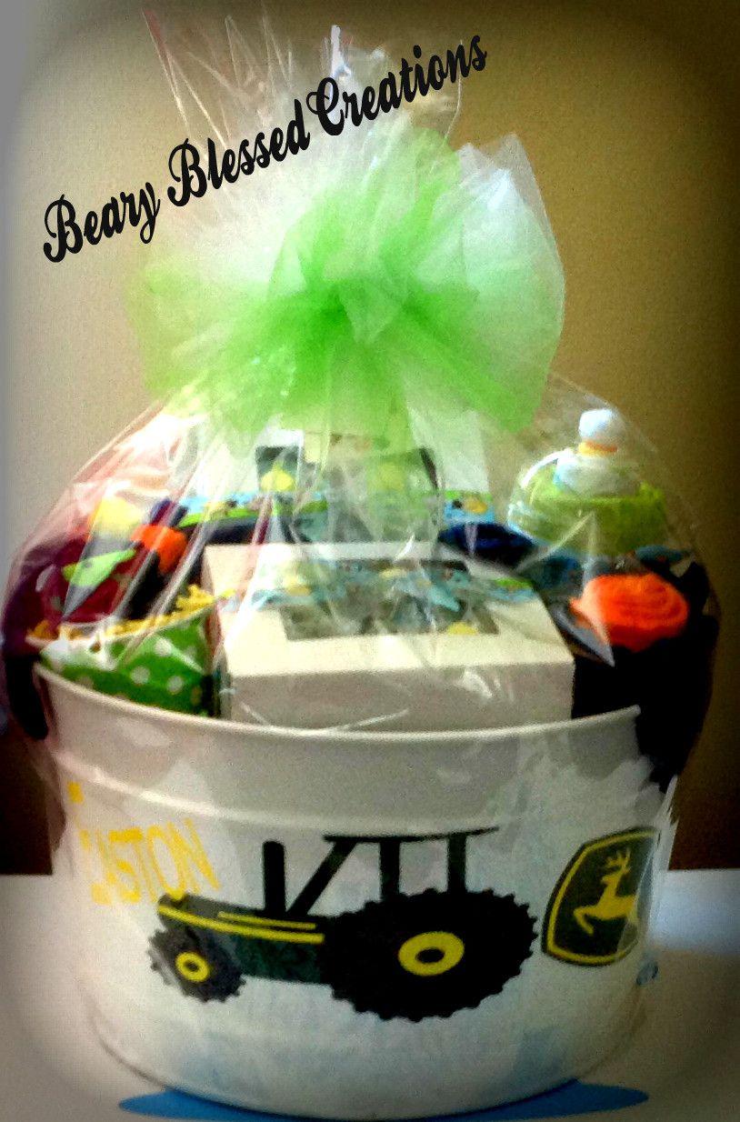 John Deere Baby Gift Baby Gift Bucket Baby Shower Gift Baby Gift