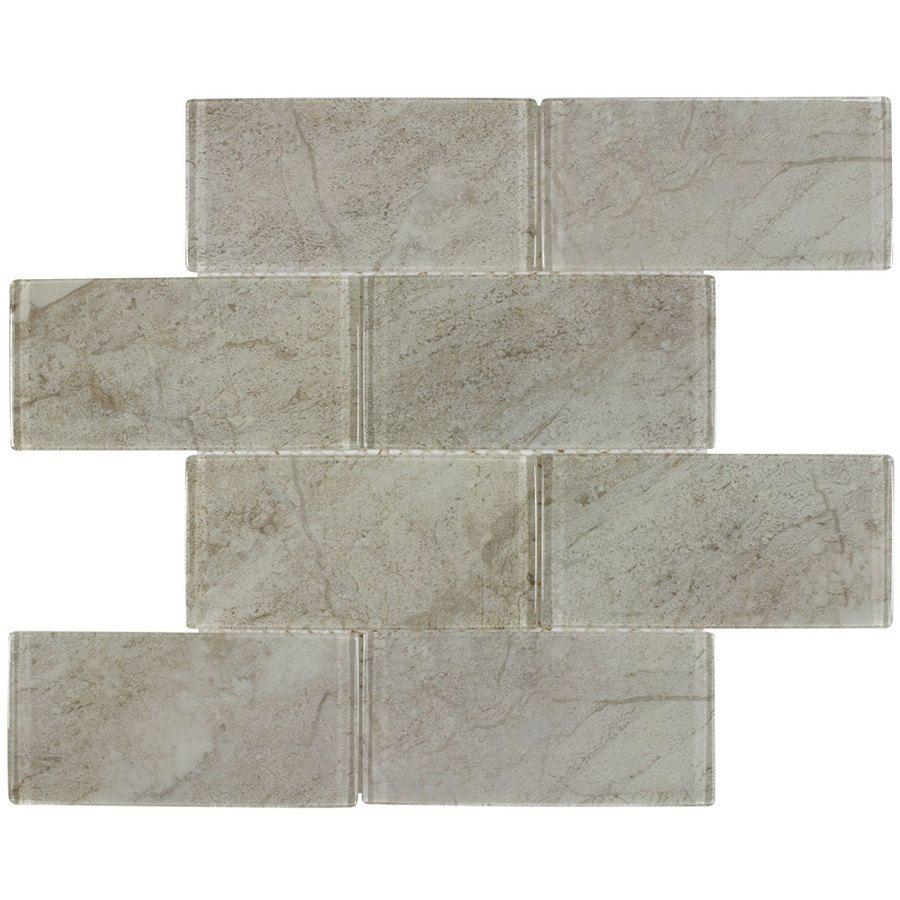 Elida ceramica glass marmol mosaic glass wall tile common 12 in elida ceramica glass marmol mosaic glass wall tile common 12 in x 12 dailygadgetfo Choice Image