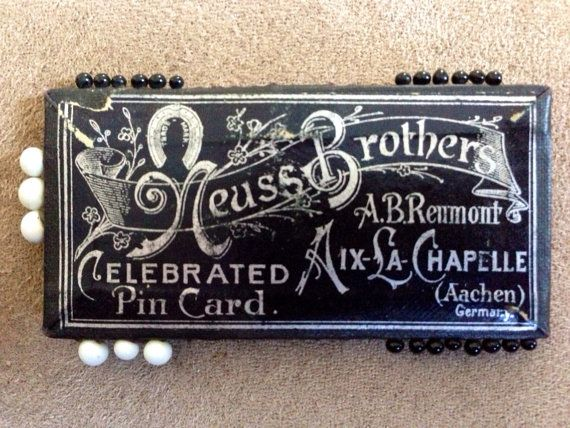 Antique Neuss Brothers Pin Card with Glass Pins on Etsy, $65.00