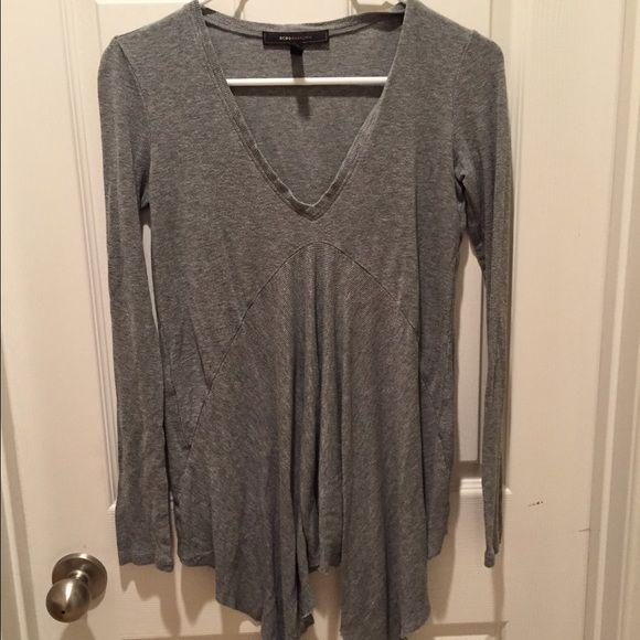 Bcbg Maxazria Grey Vneck Shirt S Bcbg Maxazria Grey Vneck Shirt S BCBGMaxAzria Tops