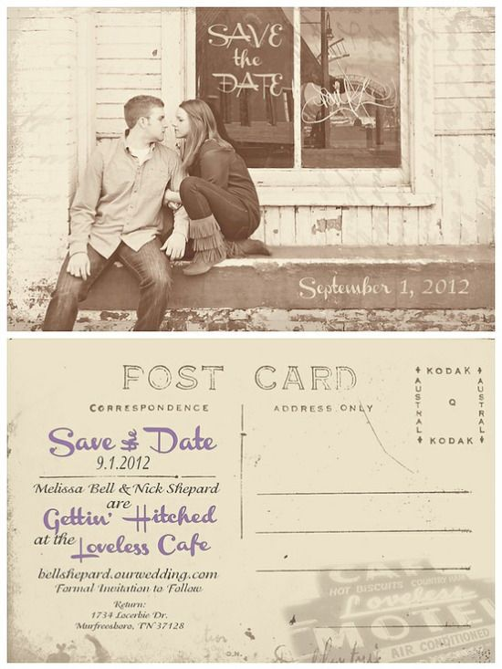 Fun Vintage Postcard Design That I Did For Newly Engaged Love Birds