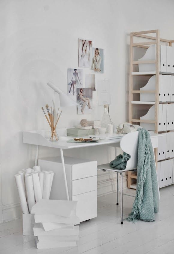 Bureau en blanc Un Due Tre...Ilaria via Nat et nature