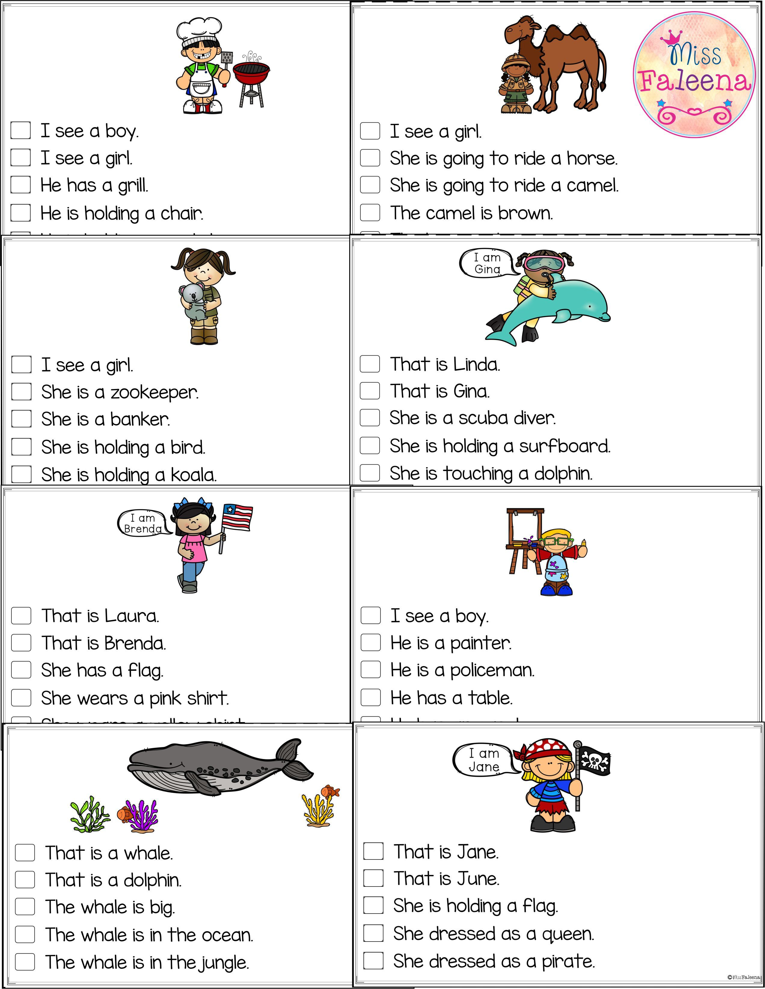 July Picture Comprehension Cards And Worksheets