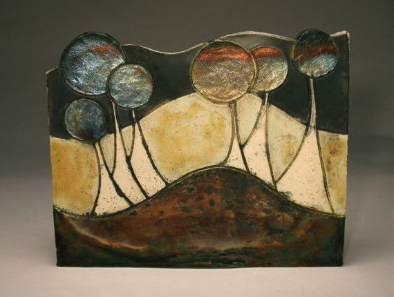 Cosmic Spores Raku Wall Hanging | Pottery, Clay and Pottery ideas