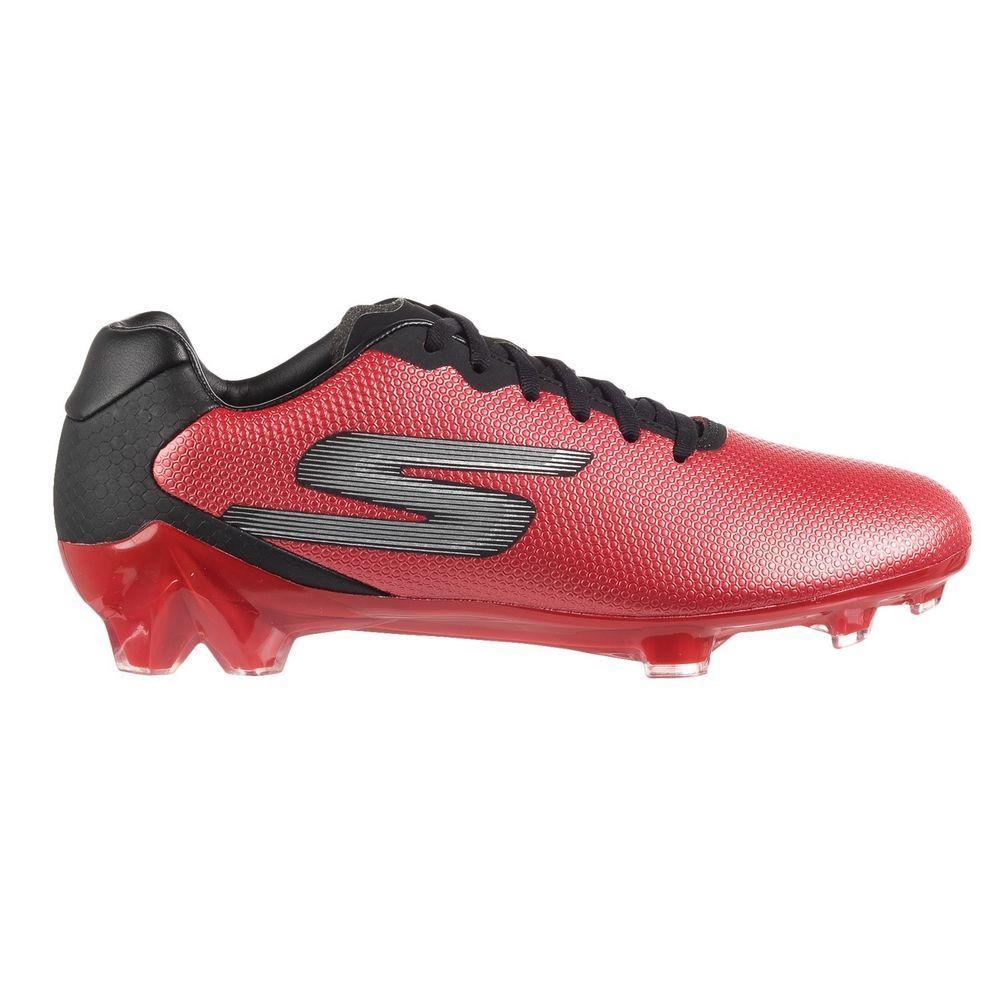 dc09d6ef8 Skechers Men s GO Soccer Galaxy FG Soccer Cleats Red Black 10.5  Skechers   Cleats