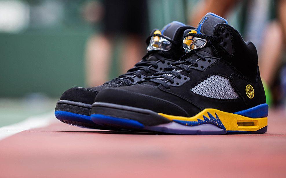 4139f4c7065b0b Hot Sale Nike Jordan 4 Cheap sale ShangHai Black Blue Yellow ...