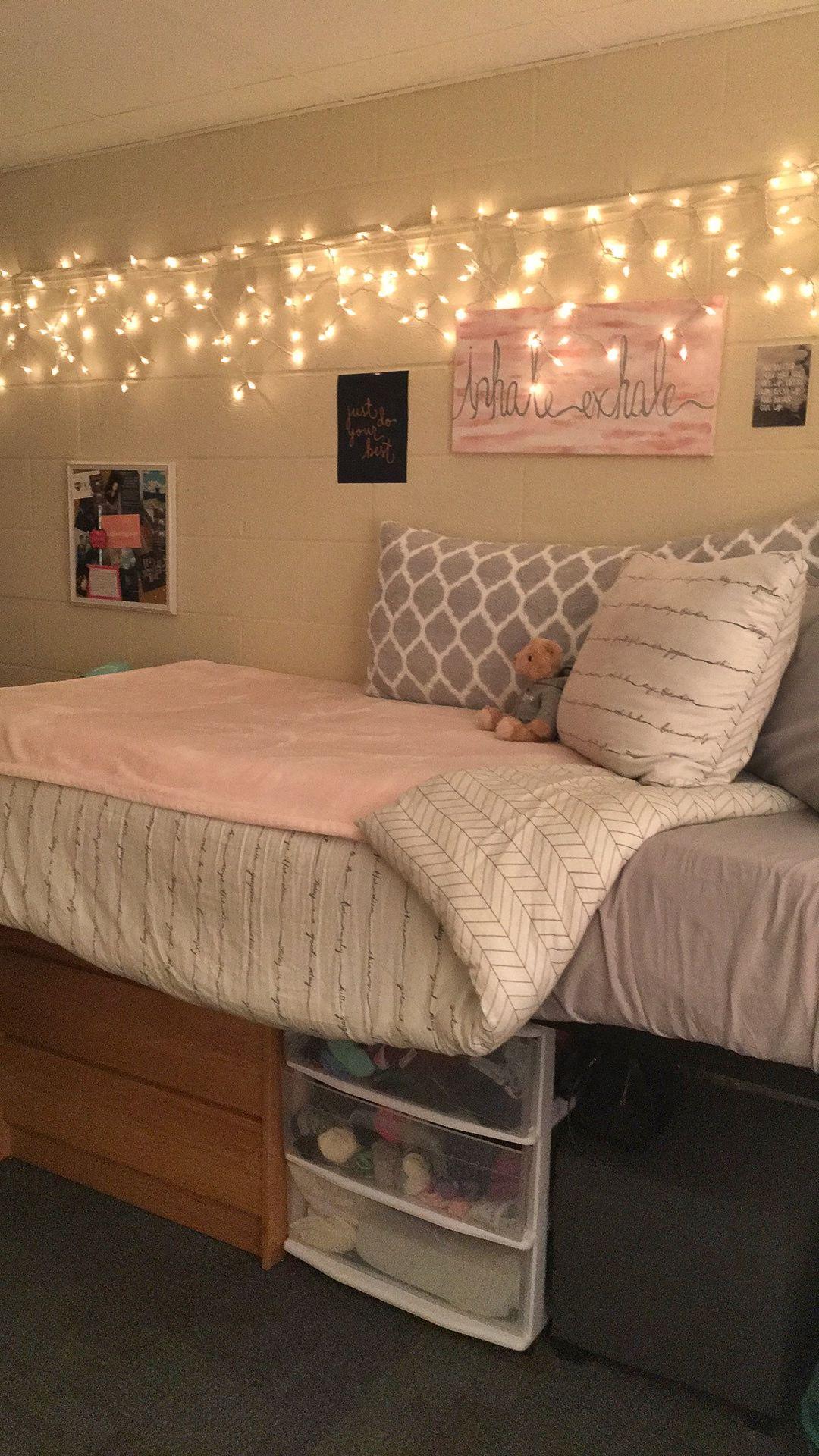 College loft bed ideas  Hood College Freshman Dorm  dorm inspiration  Pinterest  Freshman