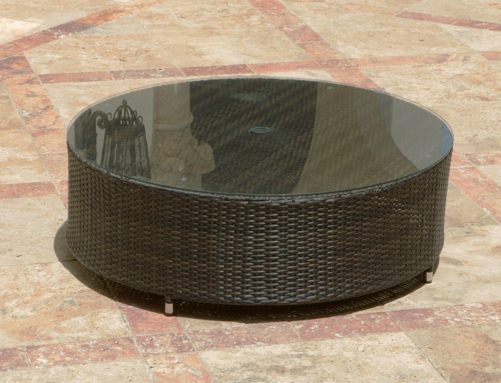 Source Outdoor Circa Round Coffee Table With Umbrella Hole Pergolas [ jpg ]