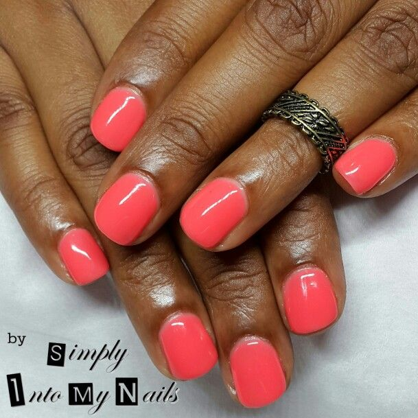 Gel Ii Coral Reef With Images My Nails Nails Manicure