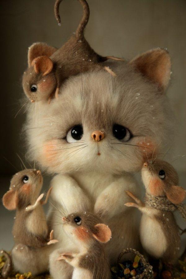 Fetreno. Игрушки из шерсти ручной работы. by toni Cute