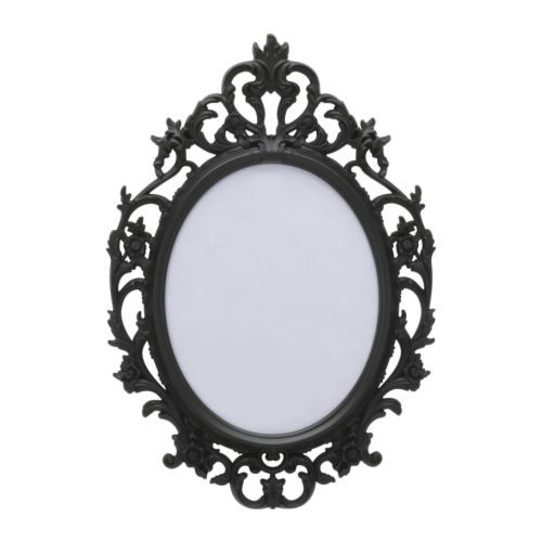 UNG DRILL Mirror, oval, black | Victorian mirror, Spray painting and ...