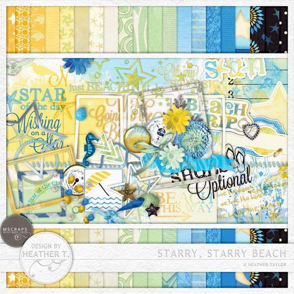 Starry, Starry Beach Full & Mini Kits Memory Scraps