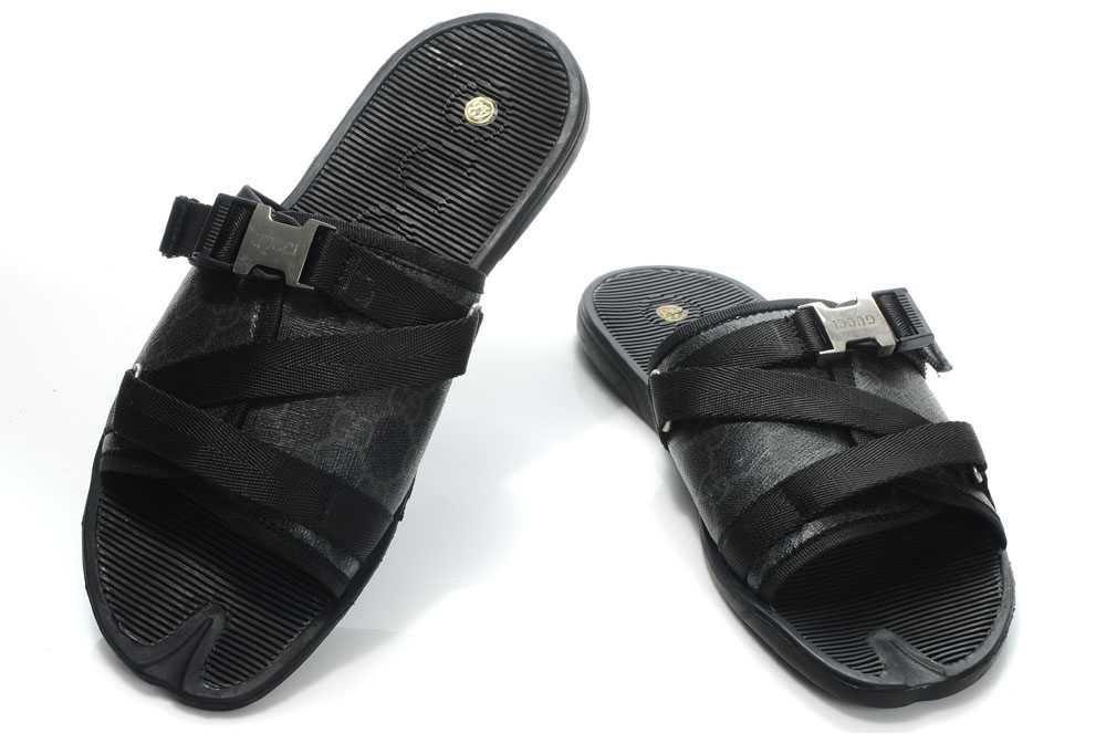 Zapatos Gucci Hombre GU93 Pantuflas Gucci Hombre Negro Color Puro y Calidad… 8b1574e3d8c