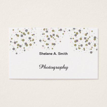 Confetti Gold Blush Modern Dots Business Card - diy cyo customize - confeti