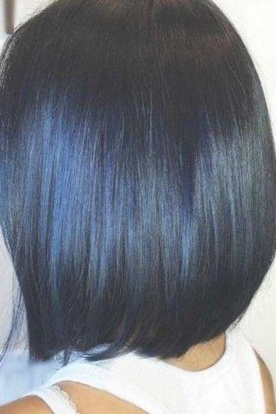 20 Blue Hair Color Ideas for Dark Hair, Blue hue is one of the perfect choices f… – Sarina Roob