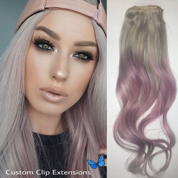 100 Human Hair Extensions Pastel Pink Clip In Hair Extensions