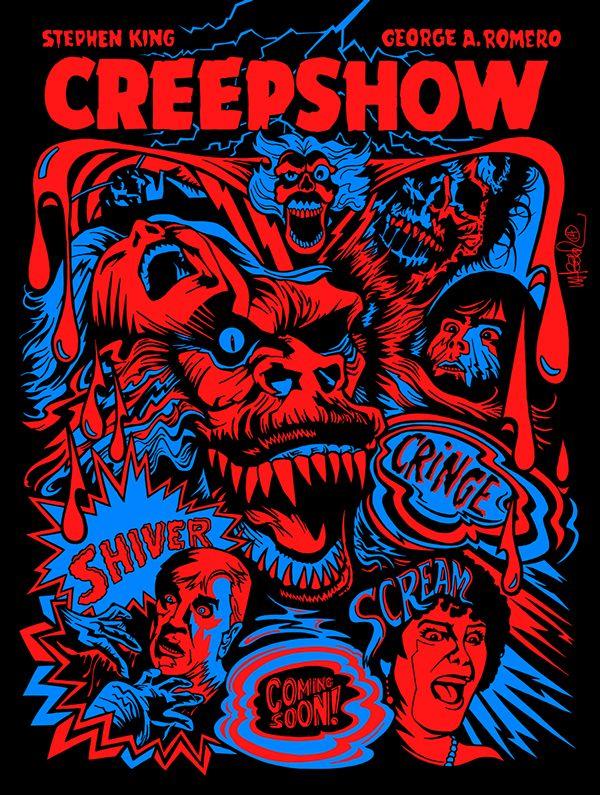 Creep show Stephen King cult horror movie poster print