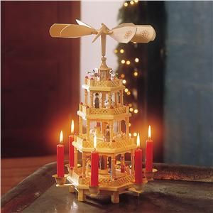 Wooden Christmas Carousel with Candles - Christmas Indoor Decor ...