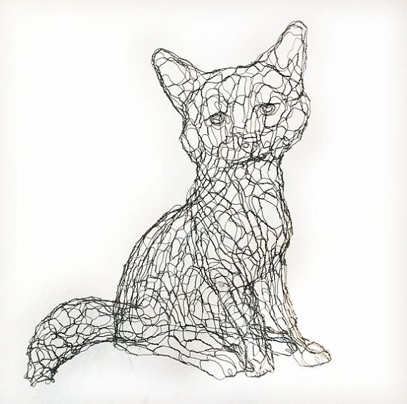 Pin on wire sculpture