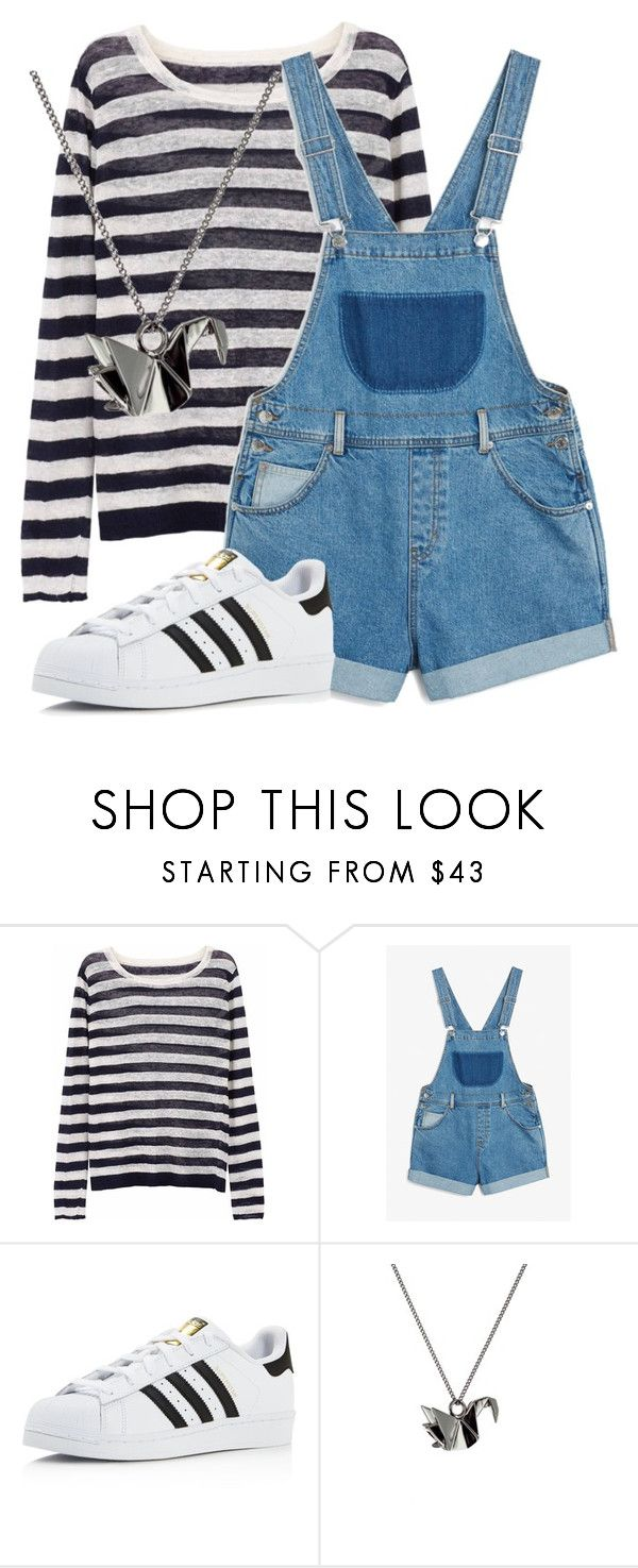"""Untitled #33"" by drewbie-2001 on Polyvore featuring Ille De Cocos, Monki, adidas and Origami Jewellery"