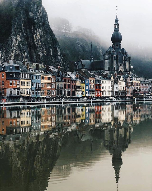 Dinant belongs to the Wallonia Region of Belgium. The city where the Maas River crosses has about 20,000 inhabitants. There are the Collégiale Notre Dame de Dinant, the Citadel of Dinant, Grotte la Merveilleuse, Rocher Bayard and Abbaye Notre-Dame de Leffe among the places to visit. #bestdestinations #europe #travel #thingstodo #mustseeplaces #worthseeingplaces #dinant #belgium