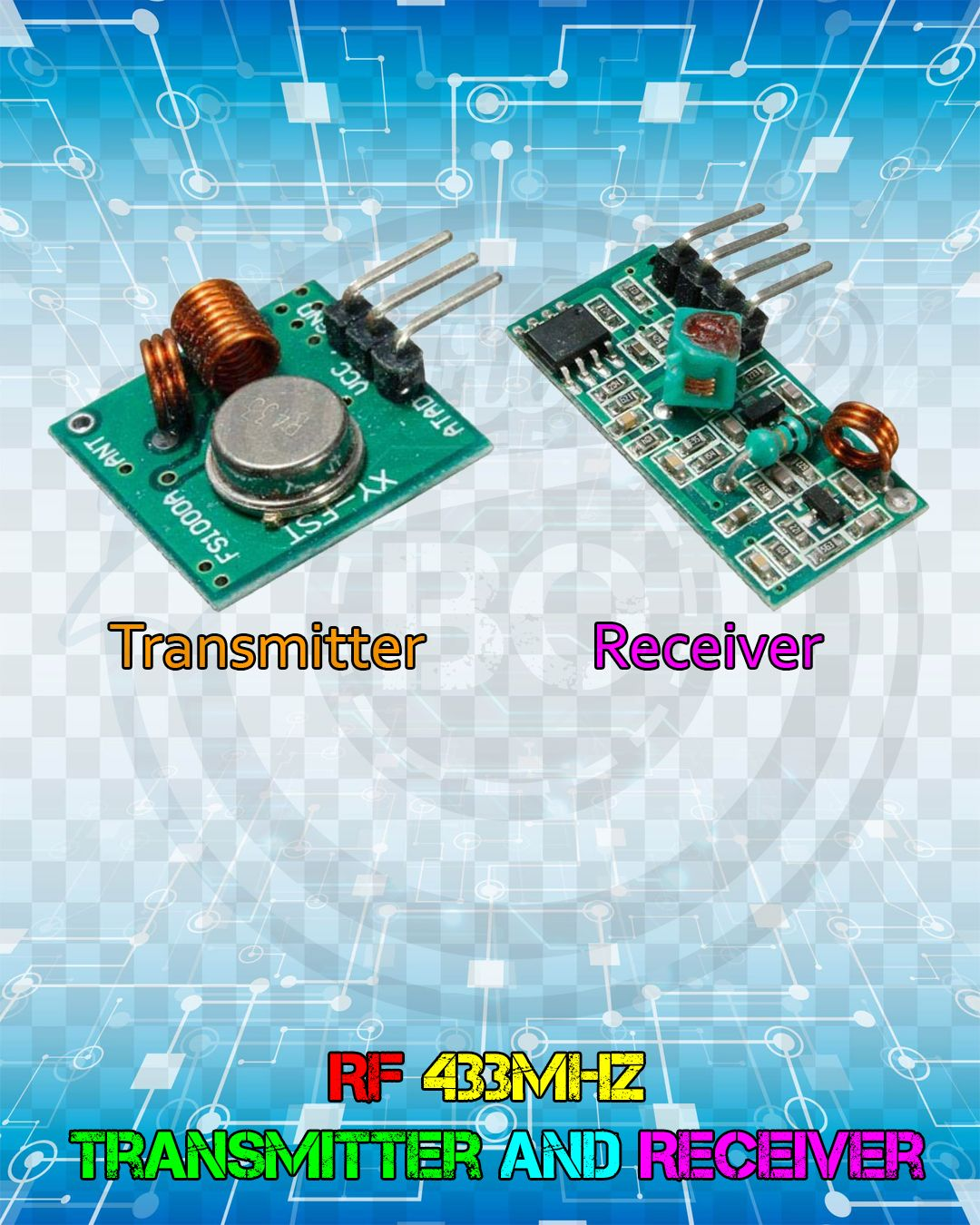 RF 433MHz Transmitter and Receiver. in 2019 Electronic