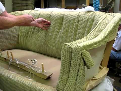 Upholstering Adding The Buttons Youtube Rustic Upholstery Fabric Linen Upholstery Fabric Upholstery Repair