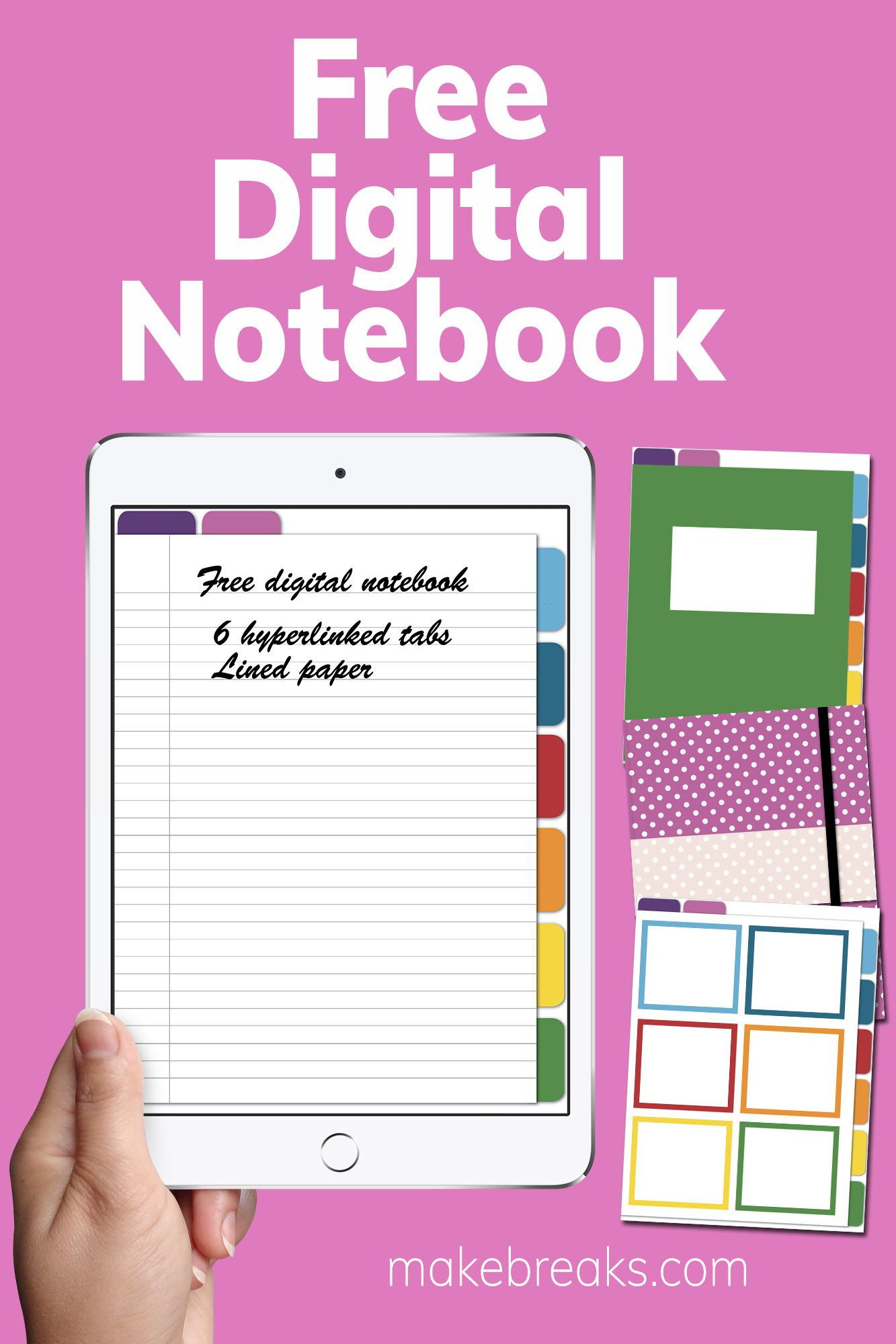 photo about Free Digital Planner Pdf identified as Free of charge Electronic Laptop computer for Goodnotes Other PDF Visitors
