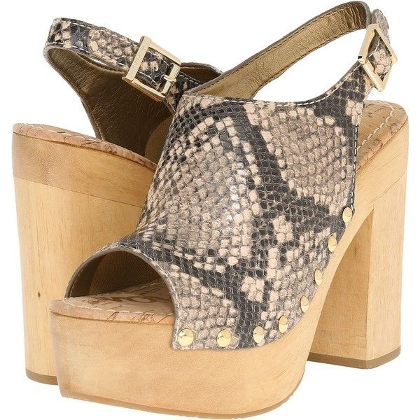 Womens Sandals Sam Edelman Marley Natural Shiny Burmese Python Print Leather