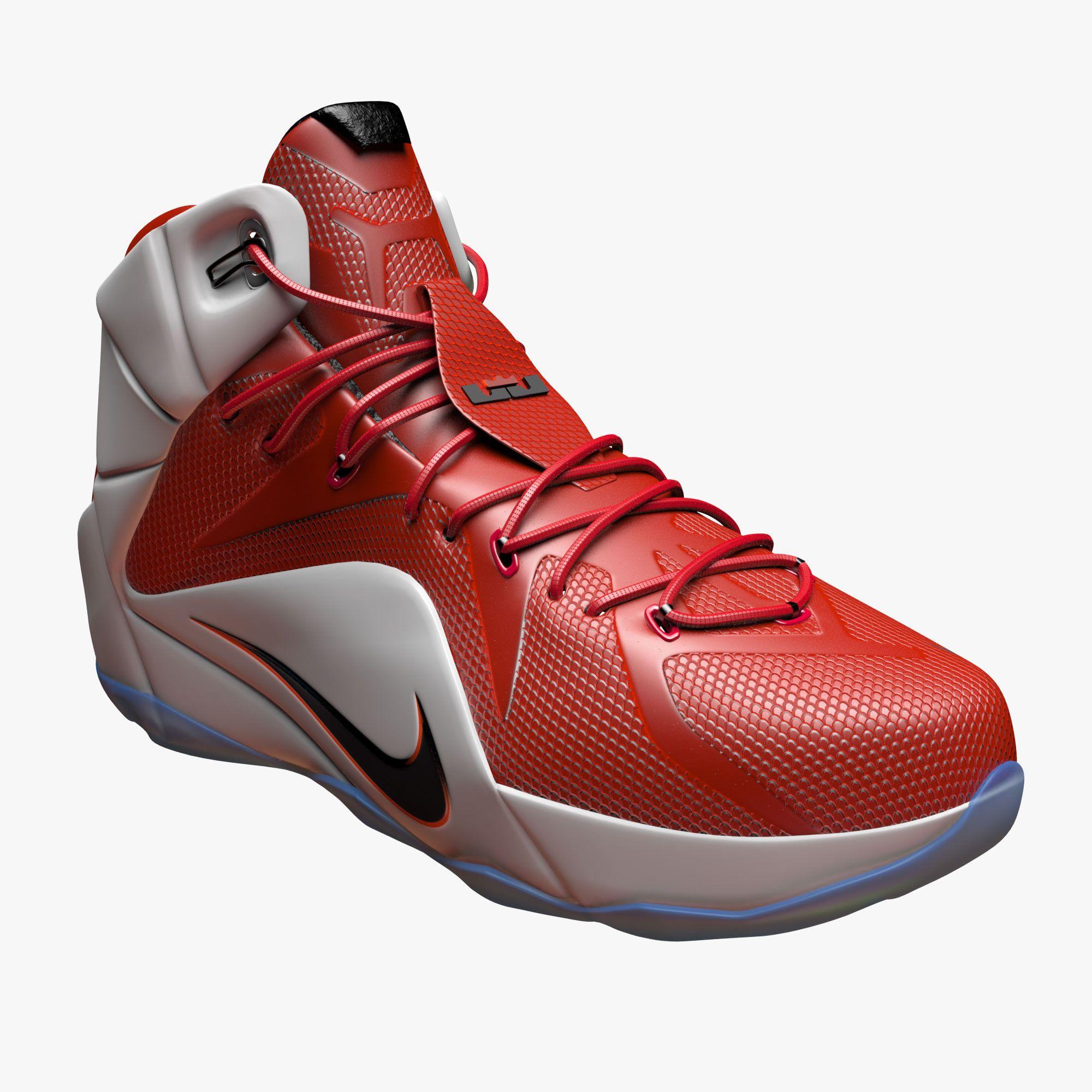 nike lebron 12 basketball shoe c4d