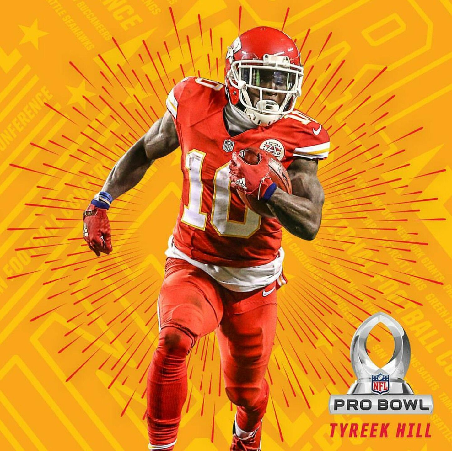 Tyreek Hill Is One Of Four Selections For The 2016 Pro Bowl From The Kansas City Chiefs Kansas City Chiefs Chiefs Football Kansas City